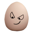 удивленное яичко