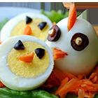 красиво подать яйцо